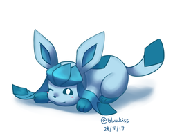 Baby Glaceon by BluuKiss