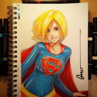 SuperGirl Sketch 001 by Omar-Dogan