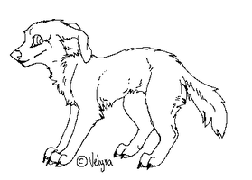 Dog lineart 2 by Velyra