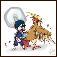 Chibi Gym Leaders - Hayato by Frog-of-Rock