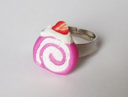 Pink Swirl Cake - ring by FrozenNote