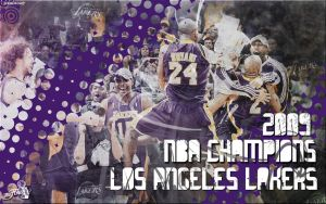 Lakers 2009 NBA Champions by Angelmaker666