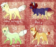 Offer / Auction adoptables by coffaefox