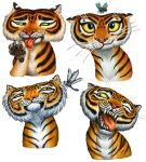 Tiger Stripes Spot Illustrations by feliciacano