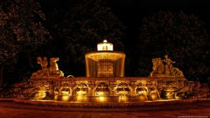 Munich - Wittelsbach Fountain by pingallery