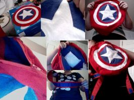 Captain America Backpack by SICProwl