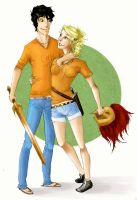 Percy and Annabeth by MFJess