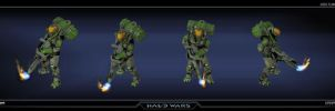 Halo Wars UNSC Flamethrower by saizarod