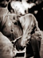 A Girl And Her Horse by duronboy
