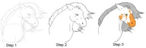 how to i draw a horse by Jatator