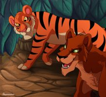 Jungle Cats by Aspendragon