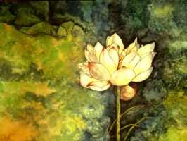 Watercolor lily by YugeshPandey
