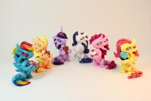 MLP Mane 6 Inspired Dragons by ShaidySkyDesign