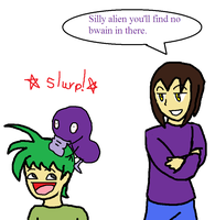 Silly alien... by luigi2cool