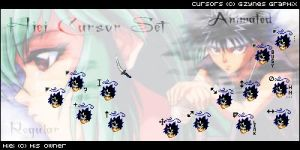 Hiei Cursor Set by Gezusfreek
