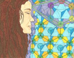 A girl with kaleidoscope eyes by sageman2012