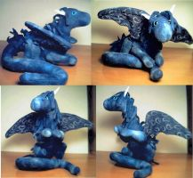 Baby Blue Dragon by sandrabong