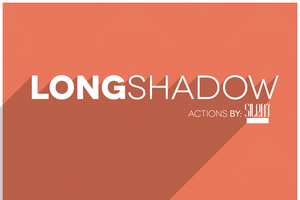 Long shadow Photoshop Actions by ShekFilters