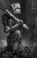 Exo Suit Lunch Sketch 2 by AaronGriffinArt