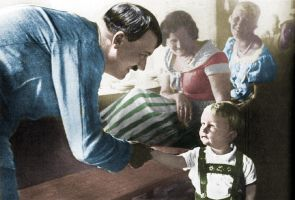 Hitler and a little boy. In colour. by SchwarzblutSterne