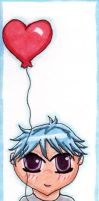 Boy with Balloon Bookmark by wurpess2