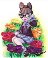 COMMISSION: A Mayor and Her Flowers by mooseofkonoha