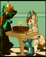 gift: Chocolate cake 8D by Blackwolfpaw
