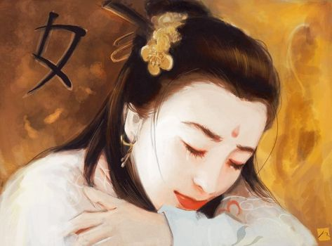 Chinese Woman Study - By JR 08-02-2016 by raphx2000