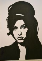 Amy Winehouse Pop Art Canvas by PerfectPaula