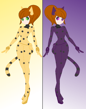 LadyServal and BlackServal by silverfire335