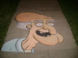 Herbert the Pervert in Chalk by Chalkarts