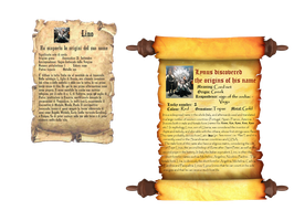 Parchments with origins of the name Lynus-Linus by Lynus-the-Porcupine
