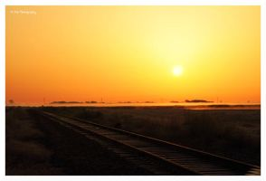 Sunrise On The Tracks by erbphotography