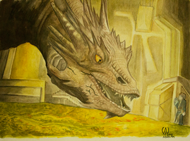 The Mighty Smaug by Sollaw
