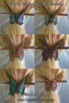 Leather Butterfly Hair Brooches 4-12-2012 by Angelic-Artisan