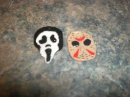 Jason and Scream Earrings by AquaNature10