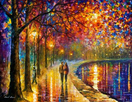 Spirits By The Lake by Leonid Afremov by Leonidafremov