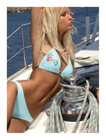 gorgeous woman on the boat by bosley1980