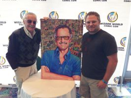 Stan Lee, the painting, and Me! by WestStudio3