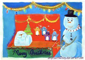 Christmas Painting 2007 by amyhearts2sing