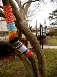 yarn bomb tree2 by knittleson