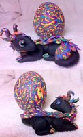 Dragon and Egg 'Rainbow' by KatherineReedKS