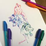 282- Pen Wolf Trio by Lucky978