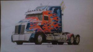 Transformers Age of Extinction - Optimus - Truck by damianzielinski