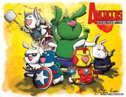 Avengers Bunnies Earths Mightest Bunnies by thedustud