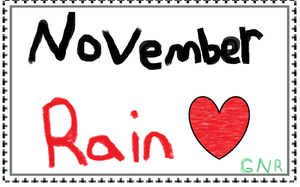 November Rain Stamp by MoontheMew