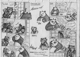Kung Fu Panda Comic Cp. 1 page 3 and 4 by NeoMakusha