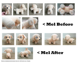 -Mel plush: Before N After- by Dunkin-Prime