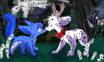 Delphin and Glitter in Dalmatian Wood by JB-Pawstep
