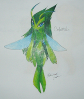 Fakemon: Celenabi by IceCatDemon